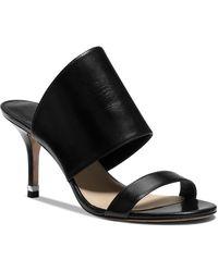 Michael Kors Open Toe Slide Sandals - Suzanne High Heel - Lyst