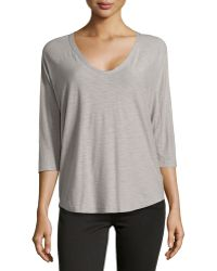 James Perse Jersey Baseball-style Tee - Lyst