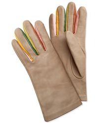 Rodarte Taupe Leather Gloves - Lyst
