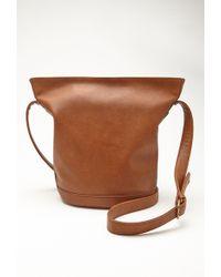 Forever 21 Faux Leather Shoulder Bag - Lyst