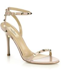 Valentino Rockstud Leather Sandals - Lyst