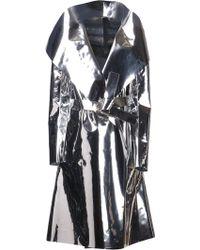 Gareth Pugh Wrap Trench Coat silver - Lyst