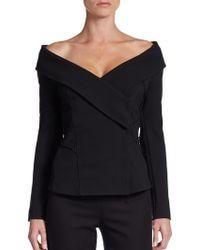 Donna Karan New York Off-the-shoulder Jacket - Lyst