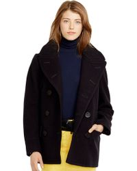 Polo Ralph Lauren Wool Double-Breasted Pea Coat - Lyst