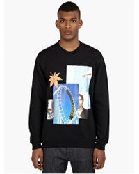 Raf Simons Men'S Rollercoaster Printed Cotton Sweatshirt - Lyst