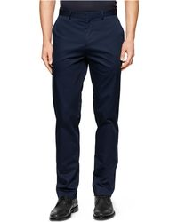 Calvin Klein Stretch Twill Suit Pants blue - Lyst