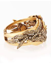 Oscar de la Renta Crystal Spike Hinge Bracelet - Lyst