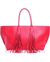 Sara Battaglia Red Medium Shopper Tote - Lyst