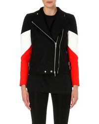 Givenchy Contrast Stripe Biker Jacket Black - Lyst