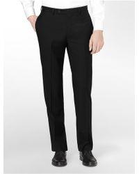 Calvin Klein White Label Body Slim Fit Black Wool Suit Pants - Lyst