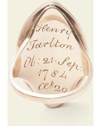 Erica Weiner - Georgian Sepia Miniature Mourning Ring For Henry Tarlton - Lyst