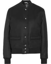 Givenchy Wool-blend Twill Bomber Jacket - Lyst