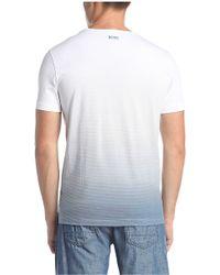 BOSS Green - Cotton T-shirt With Logo Print: 'tee 5' - Lyst