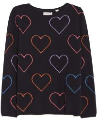 Chinti & Parker Heart Outline Sweater blue - Lyst