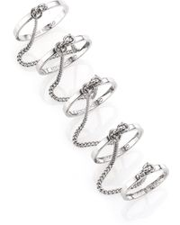 Eddie Borgo Thin Five-Finger Chained Band Ring - Lyst