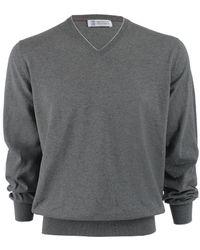 Brunello Cucinelli V-Neck Sweater - Lyst