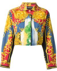 Versace Sun Baroque Print Jacket - Lyst