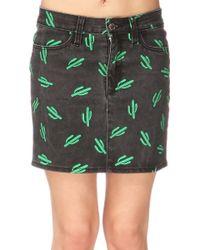 American Retro Mini Skirt - Ttinsk - Lyst
