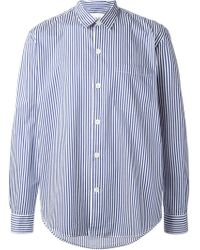 Our Legacy Blue Striped Shirt - Lyst