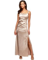 Alex Evenings Metallic Pleated Gown - Lyst