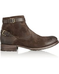 NDC Constantine Brushed-Suede And Leather Boots - Lyst