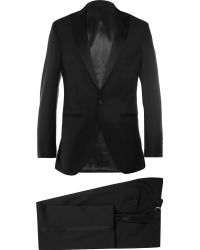Hackett Satin-Trimmed Wool And Mohair-Blend Tuxedo - Lyst