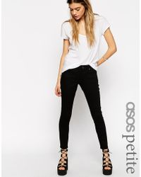 Asos Whitby Low Rise Skinny Ankle Grazer Jeans In Clean Black - Lyst