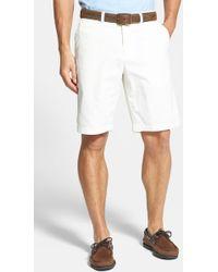Tommy Bahama 'Del Chino' Flat Front Pima Cotton Shorts - Lyst
