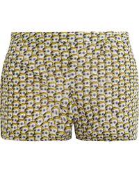 Issa Warhol Print Cotton Voile Shorts - Lyst