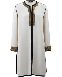 Etro Piped Embellished Coat - Lyst
