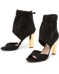 Diane Von Furstenberg Bandana Ankle Cuff Sandals  Black - Lyst