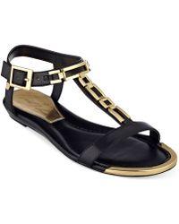 Marc Fisher Maribell T-Strap Sandals - Lyst