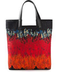Vionnet Printed Shopper red - Lyst