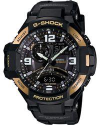 G-Shock Men'S Analog-Digital Gravitymaster Black Resin Strap Watch 51X52Mm Ga1000-9G - Lyst