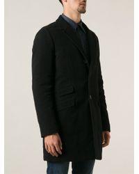 Aspesi Black Classic Coat - Lyst
