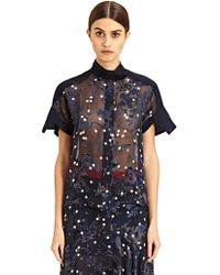 Preen New Season - Dot Arno Cropped Short Sleeved Shirt - Lyst