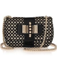 Christian Louboutin Sweet Charity Glitterfinished Leather Shoulder Bag - Lyst