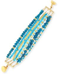 Dina Mackney - Turquoise & Apatite Beaded Bracelet - Lyst