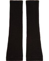 KENZO - Black Wool Fingerless Gloves - Lyst