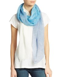 DKNY - Striped Color Block Scarf - Lyst