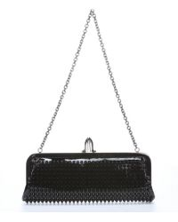Christian Louboutin Black Patent Leather 'Miss Loubi' Spiked Clutch - Lyst