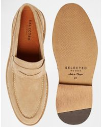 SELECTED - Ley Suede Loafers - Lyst