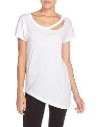 Yummie By Heather Thomson - Cutout Neck Tee - Lyst