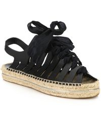Rebecca Minkoff   Gemma Lace-up Leather Espadrille Sandals   Lyst