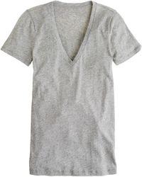 J.Crew Tissue V-Neck Tee gray - Lyst