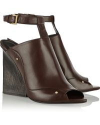 Maiyet Brown Leather Mules - Lyst