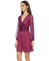 Diane von Furstenberg Ashlyn Dress - Snake Weave Texture Red - Lyst