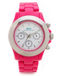 La Mer Collections - Carpe Diem Watch with Lucite Link Bracelet Hot Pink - Lyst