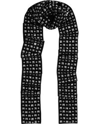 MICHAEL Michael Kors - Studded Crepe Scarf - Lyst