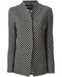 Giorgio Armani Plaid Jacket black - Lyst